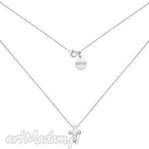 srebrny naszyjnik z krzyżykiem sotho - minimalistyczny, zawieszka