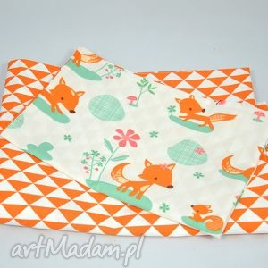 pościel niemowlaka friendly fox - pościel, niemowlęca, bawełniana, liski