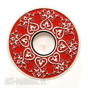 handmade ceramika lampion od serca czerwony opakowanie prezentowe