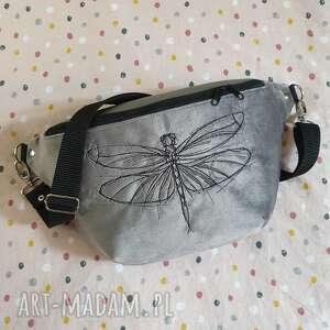nerka xxl ważka, nerka, owad, haft, insekt, torebka z haftem, świąteczne