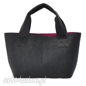 14-0008 szara damska torebka do ręki shopper bag pelican, modne, damskie, torebki