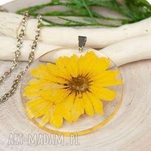 ręcznie wykonane naszyjniki naszyjnik z prawdziwymi kwiatami zatopionymi w żywicy
