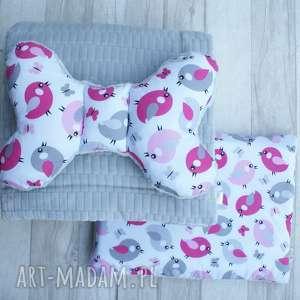 ręcznie zrobione dla dziecka pościel minky floppy kołderka poduszka motylek (kostka