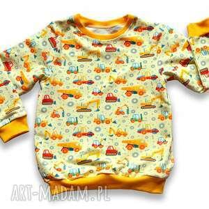 koparki wywrotki, całoroczna bluza dziecięca z dresówki, rozmiary 68-128