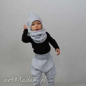 ubranka czapka zimowa podwójna szara, bawełna, ciepła, zima, podwójna, szara dla