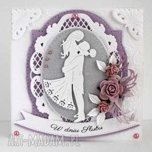 kartka ślubna - kartka, ślubna, pamiątka, ślub, johanna, art