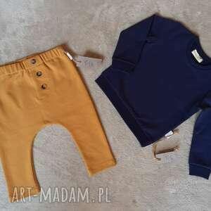 Komplet bluza i baggy lilla dresowy, i-spodnie, baggy, bez
