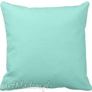 hand-made poduszki poduszka ozdobna miętowa gładka 6569