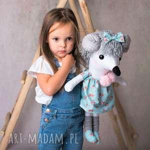 ateliermalegodesignu przytulanka dziecięca myszka, lalka handmade, myszka