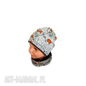 czapka i komin dla chłopca dziewczynki lisek, komin, komplet