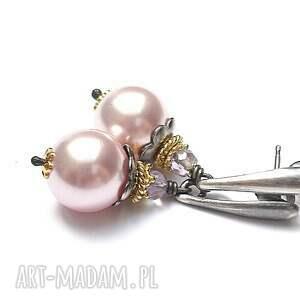 Kwiaty perliste vol. 2 , srebro, perły, swarovski, ametryn