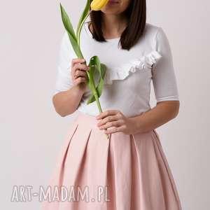 pod choinkę prezent, spódnice spódnica damska lisa, skórzana, pudrowy róż