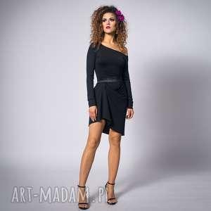 ręcznie zrobione sukienki cindy - asymetryczna sukienka