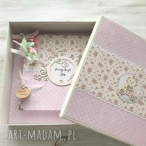 scrapbooking albumy album w pudełku, album, chrzest, roczek, prezent, dziewczynka