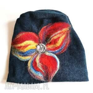 ręcznie zrobione czapki czapka wełniana handmade-czapka handmade na podszewce, rozmiar