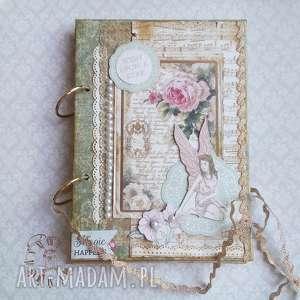 notes urodzinowy magic happens - pamiętnik, notes, życzenia, zapiski, prezent