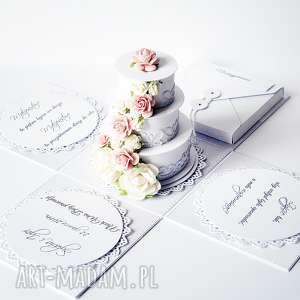 Ślub - exploding box #1 scrapbooking kartki tworzone noca ślub