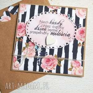 kartka ślubna :: róże, ślub