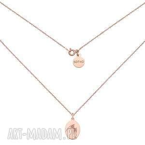 medalion z różowego złota z dłońmi sotho - łańcuszek