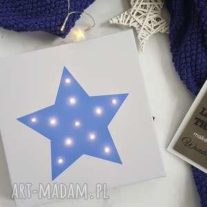 hand-made prezenty na święta świecący obraz led gwiazda prezent lampka dekoracja
