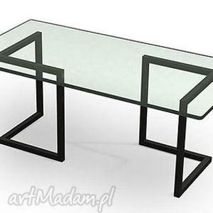 Stolik SWALA industrialny szkło i stal do loftu vintage, stolik, industrialny, loft
