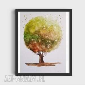 drzewo-praca wykonana akwarelami, drzewo, akwarela