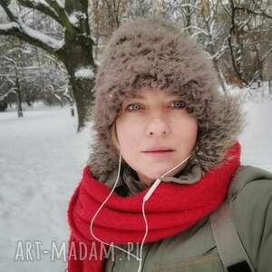 czapki czapka ruska brązowa futrzana, miękka, rozciągliwa, blisko głowy, rozmiar