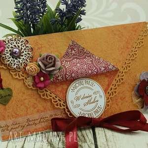 kartka kopertówka- lato orientu - ślub, ślubna, kartka, orientalnie, orient