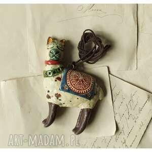 ręcznie robione wisiorki wisior lama