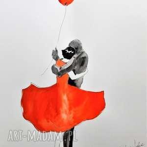 TYLKO MY praca akwarelą i piórkiem , akwarela, rysunek, miłość, para, zakochani
