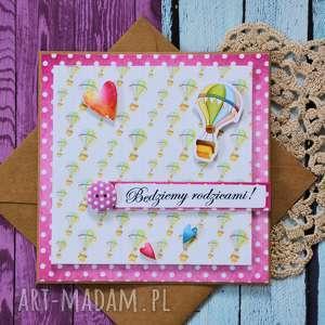kartka - będziemy rodzicami 2, kartka, dziewczynka, narodziny, niemowlę