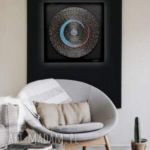mandala tarcza asamblaż upcyclingowa dekoracja ścienna industrialne dzieło