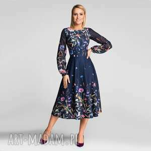 sukienka aniela total midi lorena, midi, rozkloszowana