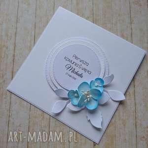 hand-made scrapbooking kartki kartka/zaproszenie cudna biel