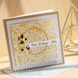 annamade kartka na różne okazje, ślub, urodzinowa, ślubna, wieniec, kwiaty