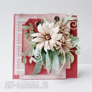 pastelowa kartka w pudełku - życzenia, gratulacje, podziękowania, ślub