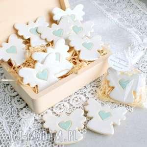 handmade dla dziecka aniołki w podziękowaniu - 16 szt