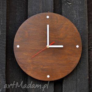 zegar wood clock palisander 30 cm, zegar, drewno, prezent, drewniany, vintage, dom