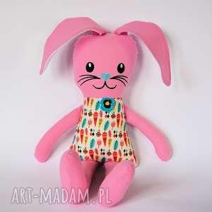Zając Kicak - Beatka (haft) 45 cm, królik, marchewka, zając, wielkanoc, dziewczynka