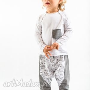 ręcznie robione megaa spodnie z duszkami