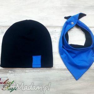 komplet czapka trójkąt apaszka chustka - prezent, szalik, chusta