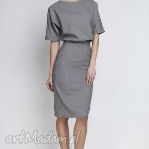 Sukienka, SUK123 pepito, ołówkowa, wyszczuplająca, kobieca, elegancka, chrzciny