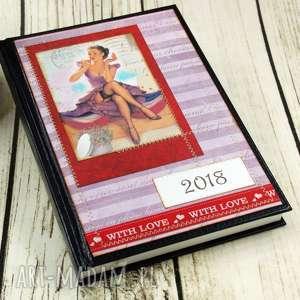 kalendarz książkowy 2018- pin up girl, kalendarz, książkowy, 2018, pin