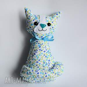 Kotek Miau - Ela 25 cm, kotek, kot, dziewczynka, kwiatki, maskotka, urodziny