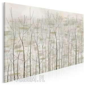 vaku dsgn obraz na płótnie - drzewa las beżowy modny 120x80 cm 90501, drzewa