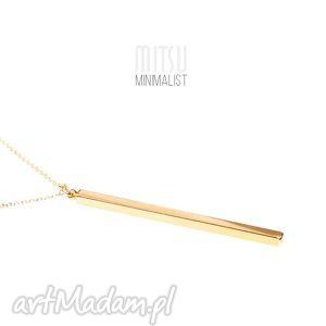 sztabka złota na długim łańcuszku - kreska, sztabka, geometryczne