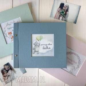 ręcznie wykonane scrapbooking albumy pastelowy album dla dziecka 21x21