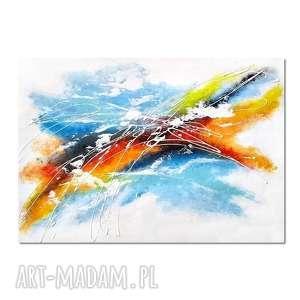 Abstrakcja SPX, nowoczesny obraz ręcznie malowany,