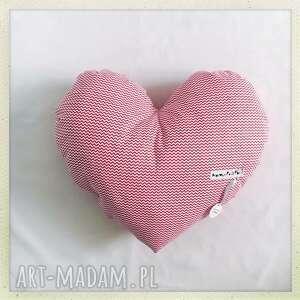 Poduszka Serce Red, zygzak, poduszka, serce, czerwony