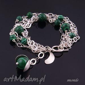 malachit bransoletka na zamówienie dla pani joanny monle, zielona